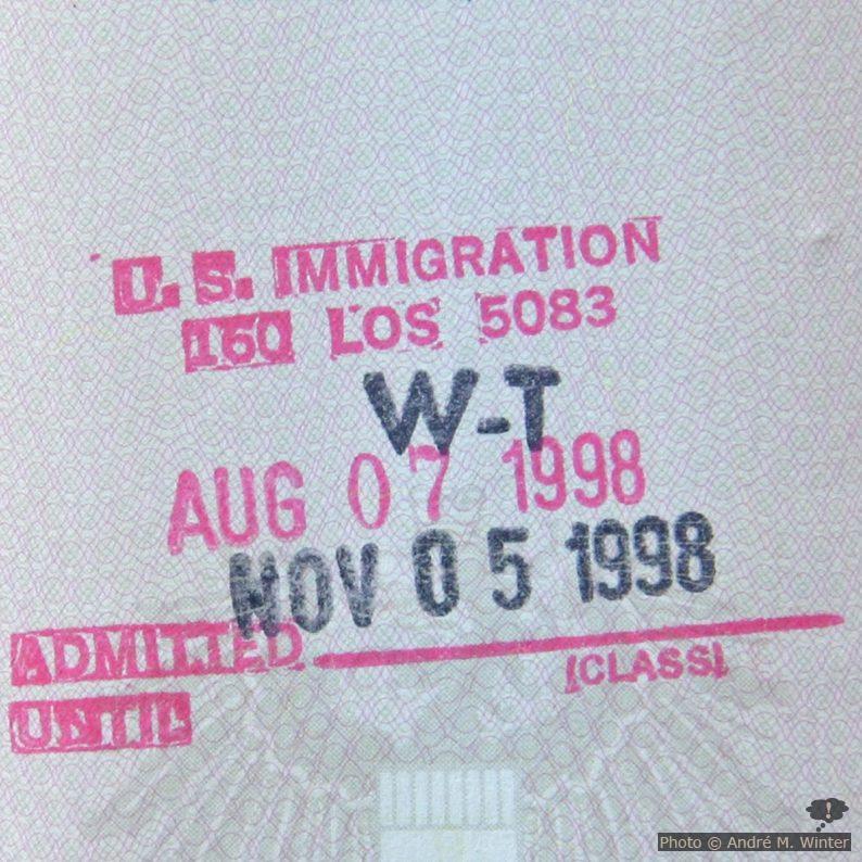 U.S. Immgration Visa im Reisepass