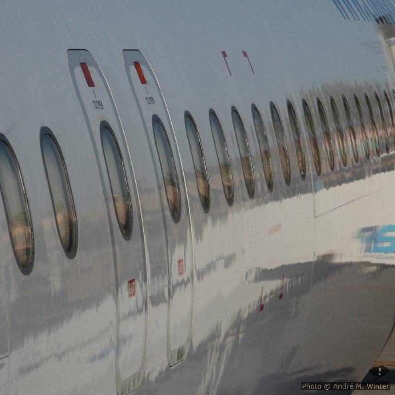 Hublots d'un A320
