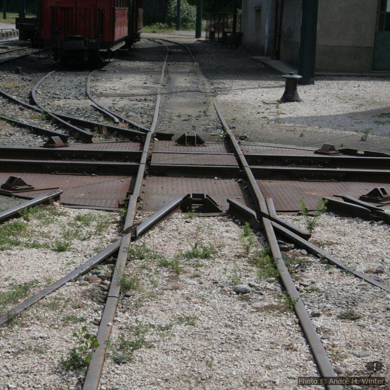 Drehscheibe des Train de la Mure in St.-Georges-de-Commiers