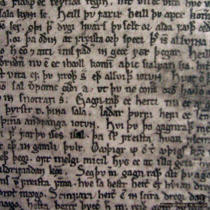Seite des Codex Regius der Alten Edda