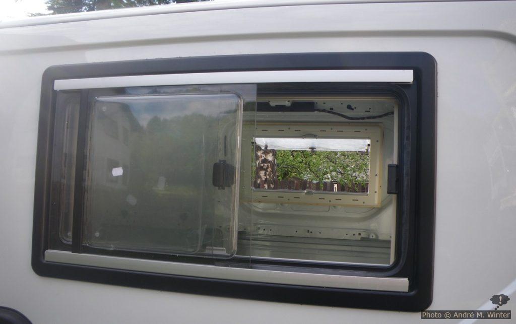 Fertig eingesetzte Fenster.