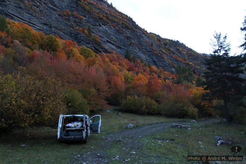 Unser Trafic im Vallon du Fournel im Herbst