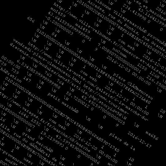 Binärer Code negativ