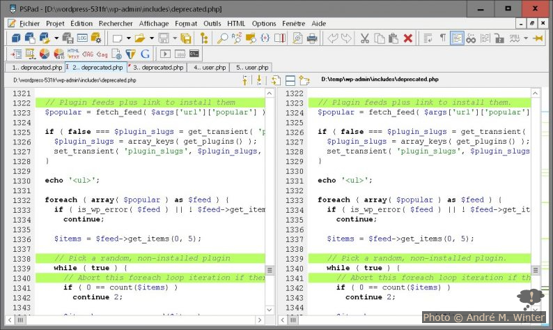 Datei-Vergleich deprecated.php