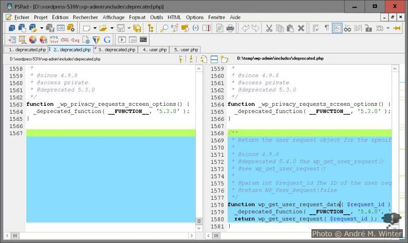 Zusätzliche Funktion im Datei-Vergleich