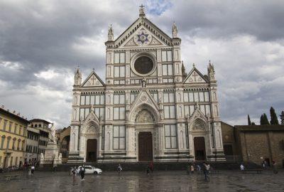 Façade principale de la Basilique Santa Croce
