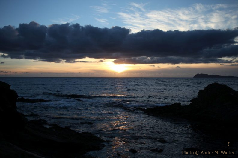 Coucher du soleil au Capo Malfatano le 31 décembre