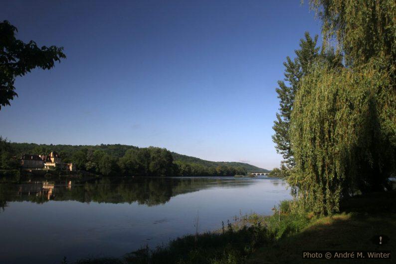 La Dordogne vue du Camping de Lalinde