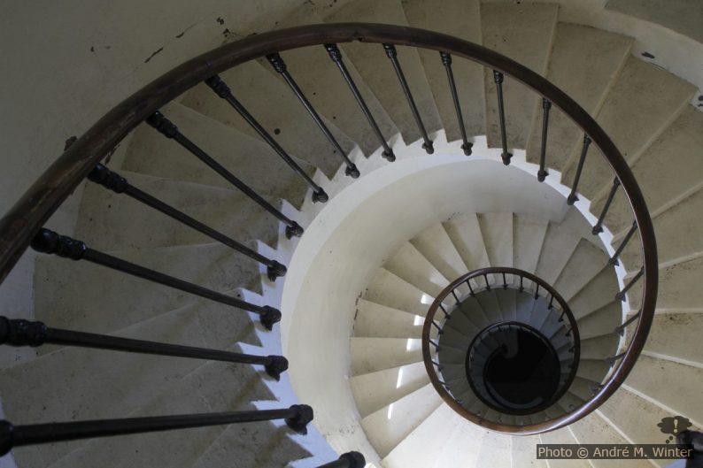 Escalier en colimaçon bas du Phare de la Pointe de la Grave