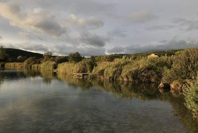 Coucher de soleil sur le Lago dell'Accesa