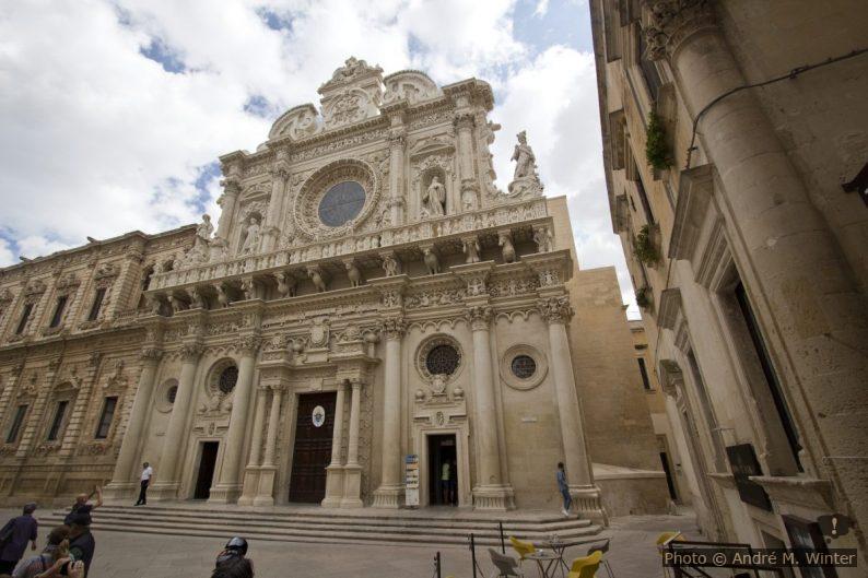 La façade baroque de la Basilica di Santa Croce di Lecce