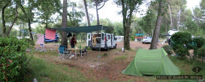 Notre Trafic installé au Camping de la Bergerie à Vence