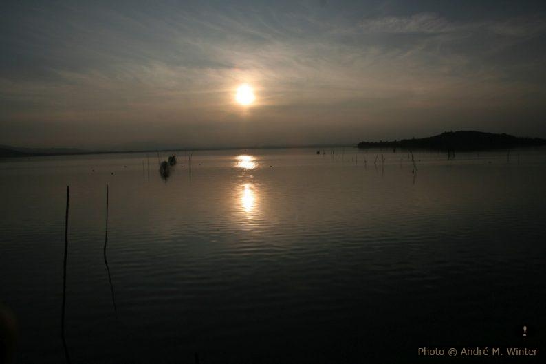 Coucher de soleil au Lac Trasimène