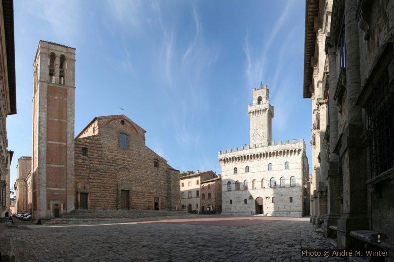 Duomo e Municipio di Montepuliciano