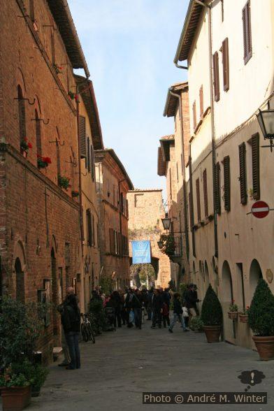 Rue principale du centre de Pienza
