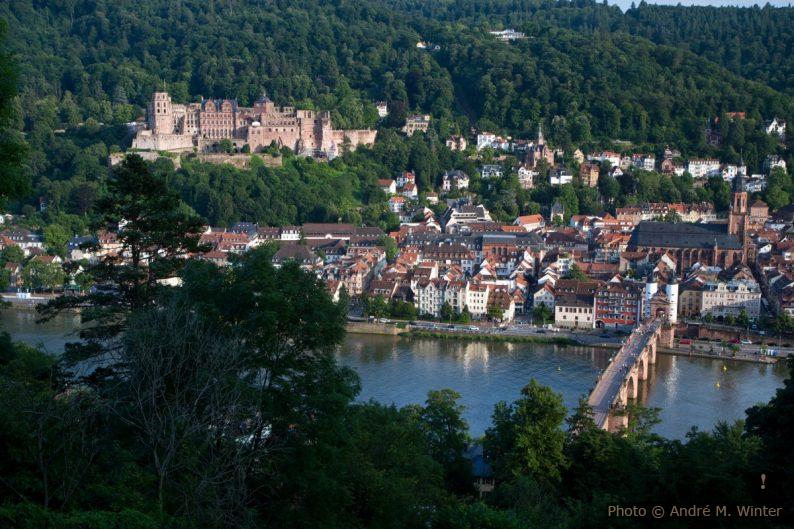 Vue sur Heidelberg et son château